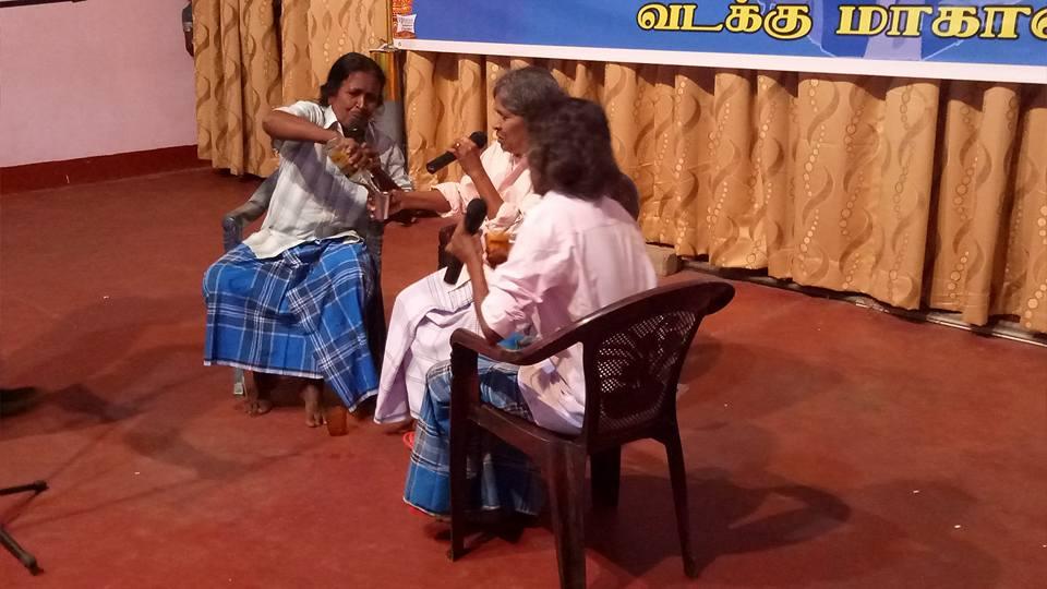 முல்லைக்கஞர்கள் மன்னாரில் 31_10_2017 மனங்கள் மாறவேண்டும் என்ற நாடகத்துடன்
