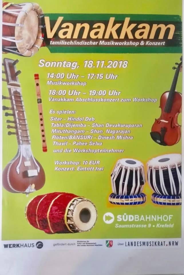 இராக தாள பயிற்சிப்பட்டறைSaumstrasse.9 Krefeld